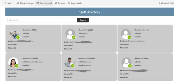 Staff Directory Web Part
