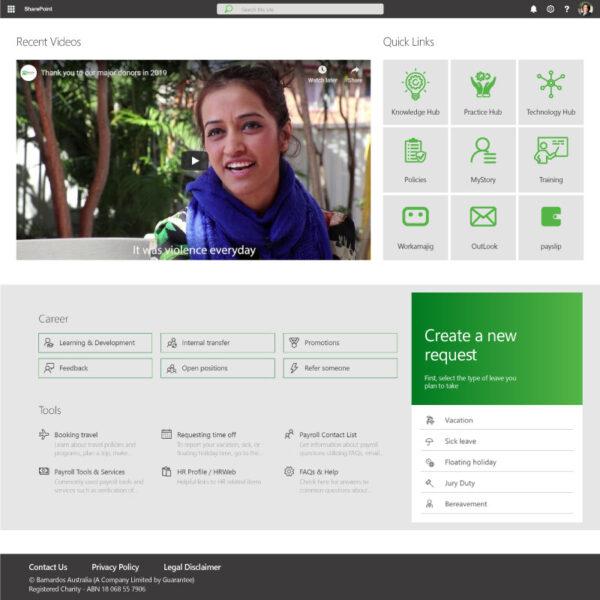 custom intranet SharePoint